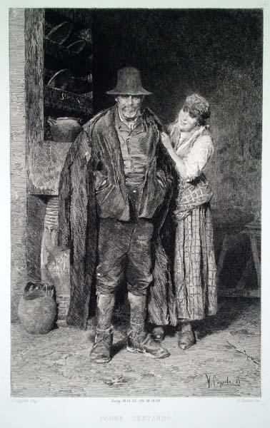 Celestino TURLETTI (Torino, 1845 – 1904) – PADRE TESTARDO da V. Caprile