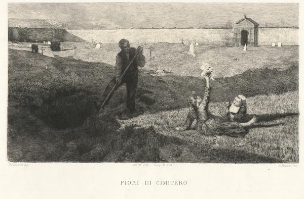 Celestino TURLETTI (Torino, 1845 – 1904) – FIORI DI CIMITERO