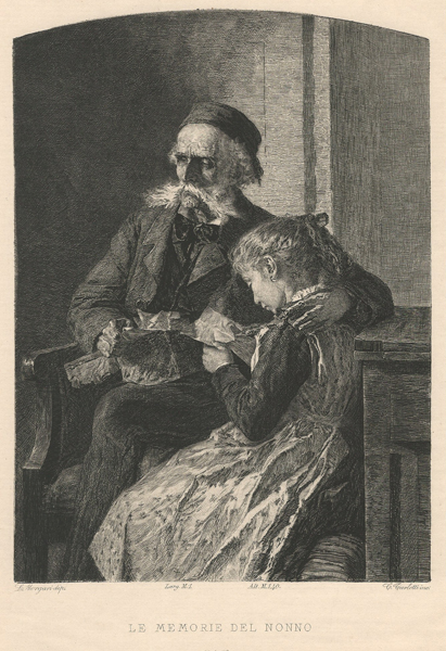 Celestino TURLETTI (Torino, 1845 – 1904) – LE MEMORIE DEL NONNO da L. Morgari