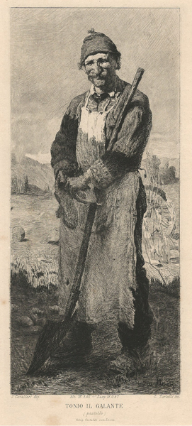 Celestino TURLETTI (Torino, 1845 – 1904) – TONIO IL GALANTE da V. Cavalleri