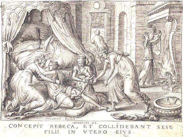 Etienne DELAUNE (Francia, circa 1518 – circa 1595) – CONCEPIT REBECA…
