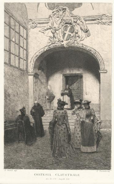 Celestino TURLETTI (Torino, 1845 – 1904) – CORTESIA CLAUSTRALE