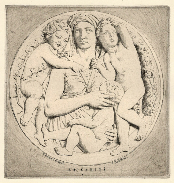 Celestino TURLETTI (Torino, 1845 – 1904) – LA CARITÀ