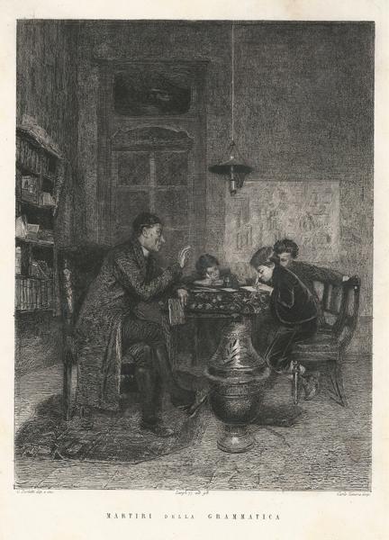 Celestino TURLETTI (Torino, 1845 – 1904) – MARTIRI DELLA GRAMMATICA