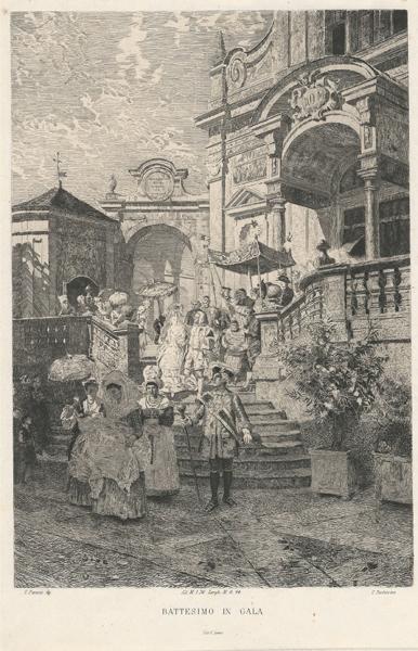 Celestino TURLETTI (Torino, 1845 – 1904) – BATTESIMO DI GALA da F. Pastoris