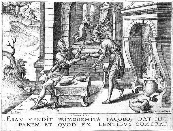 Etienne DELAUNE (Francia, circa 1518 – circa 1595) – ESAU VENDIT PRIMOGENITA…
