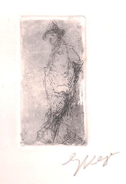 Enrico VEGETTI (Torino, 1863 – 1951) – UOMO IN PIEDI