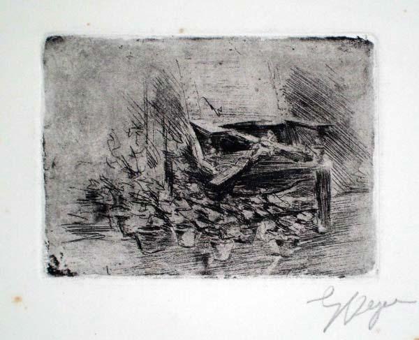 Enrico VEGETTI (Torino, 1863 – 1951) – CROCIFISSO APPOGGIATO SU UNA SEDIA