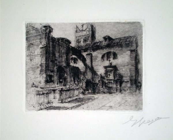 Enrico VEGETTI (Torino, 1863 – 1951) – UNA PIAZZA