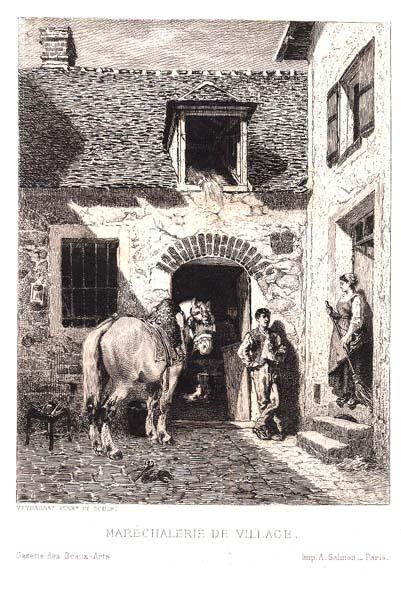 Jules Jacques VEYRASSAT (Francia, 1828 – 1893) – MARECHALERIE DE VILLAGE