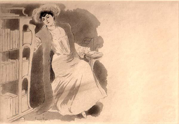 Pierre VIDAL (Francia, 1849 – 1913) – RITRATTO DI SIGNORA
