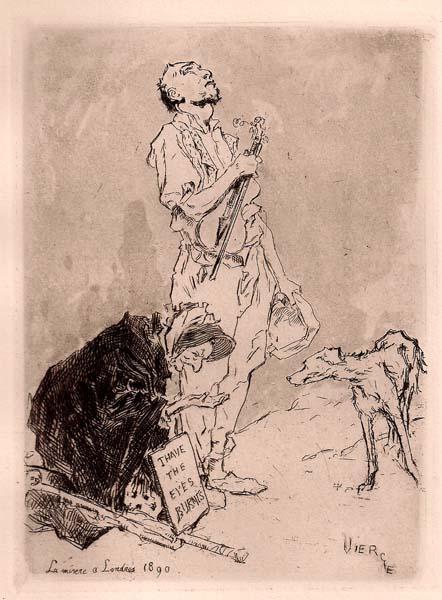 Daniel VIERGE (Spagna, 1851 – 1904) – LA MISERE À LONDRES (1890)