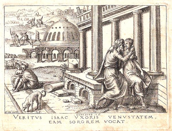 Etienne DELAUNE (Francia, circa 1518 – circa 1595) – VERITUS ISAAC UXORIS…