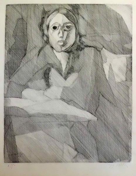 Gaston DUCHAMP (Francia, 1875 – 1963) – ECOLIERE LISANT (1929)