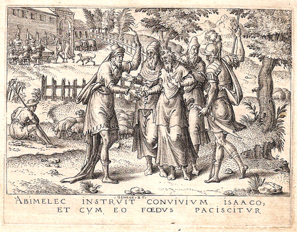 Etienne DELAUNE (Francia, circa 1518 – circa 1595) – L'ALLEANZA TRA ISACCO E ABIMELEC