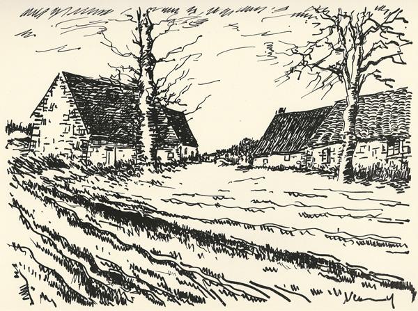 Maurice de VLAMINCK (Francia, 1876 – 1958) – LES CHALLONGES (1958)