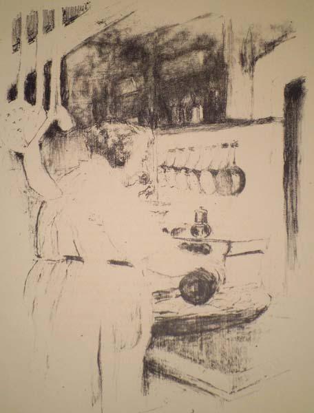 Edouard VUILLARD (Francia, 1868 – 1940) – LA CUISINIERE