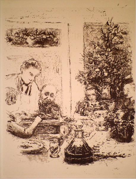 Edouard VUILLARD (Francia, 1868 – 1940) – LE REPAS