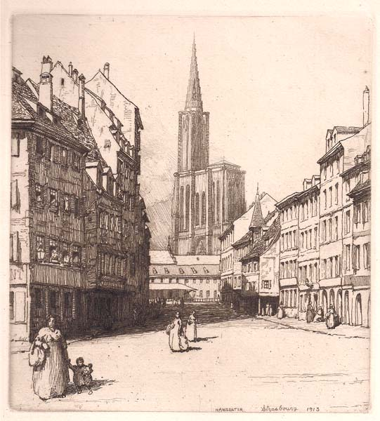 Herman Armour WEBSTER (Stati Uniti, 1878 – 1970) – STRASBOURG (1913)