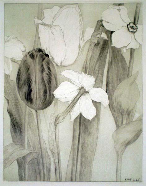 Emil Rudolf WEISS (Germania, 1875 – 1942) – EIN PAAR BLUMEN (1896)