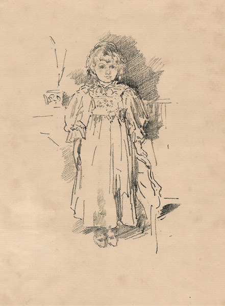 James Abbot Mc-Neill WHISTLER (Stati Uniti, 1834 – 1903) – LITTLE EVELYN (1896)