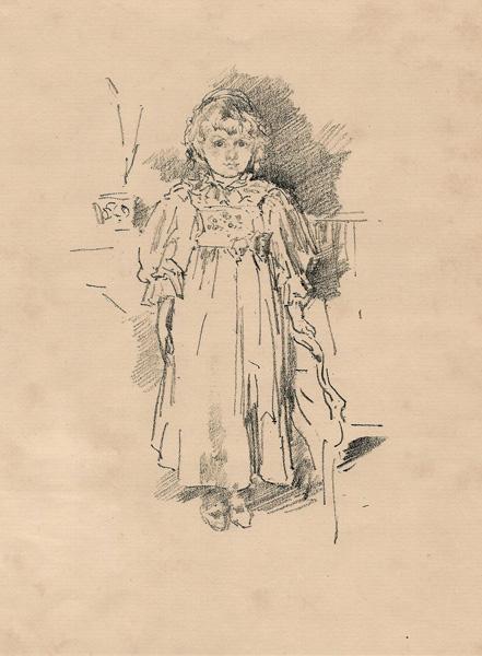 James Abbot Mc-Neill WHISTLER (Stati Uniti, 1834 – 1903) – LITTLE EVELYN (1896)