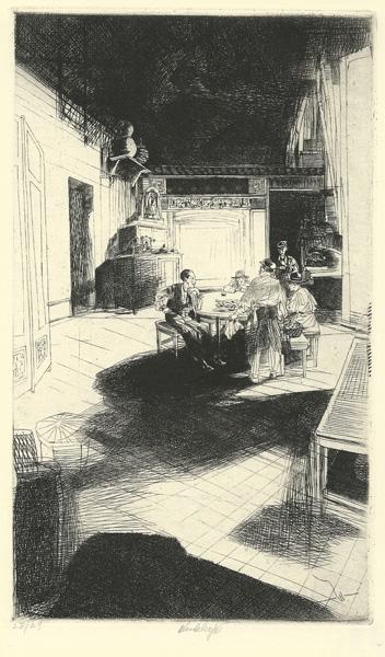 John W. WINKLER (Vienna, 1890 – 1979) – CHINATOWN HOME, PLATE C (1920)