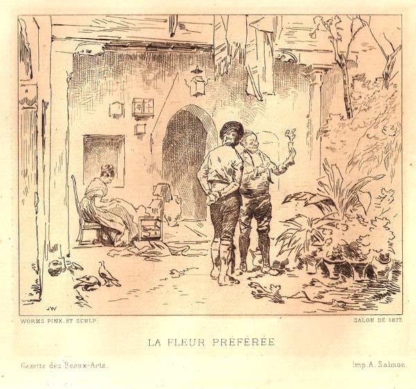 Jules WORMS (Francia, 1832 – 1924) – LE FLEUR PREFEREE
