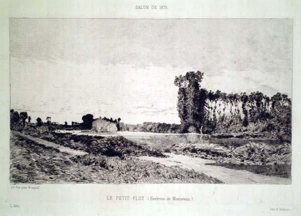 Edmond YON (Francia, 1836 – 1897) – LE PETIT FLOT – ENVIRONS DE MONTEREAU