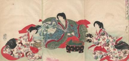 Hashimoto CHIKANOBU (Giappone, 1838 – 1912) – CERIMONIA DELL'OSAZARE ISHI