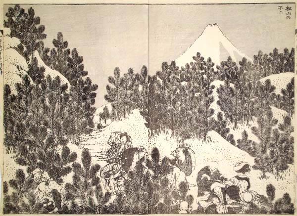 Katsushika HOKUSAI (Giappone, 1760 – 1849) – IL FUJI DA UN BOSCO DI PINI