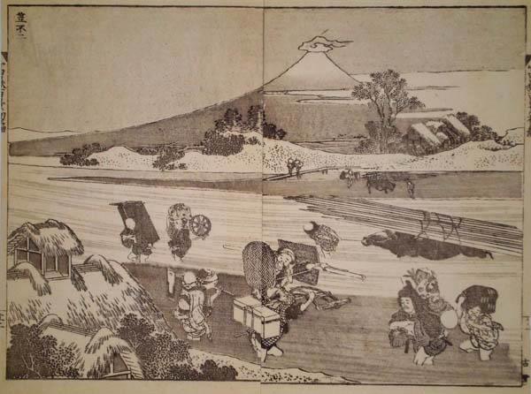 Katsushika HOKUSAI (Giappone, 1760 – 1849) – IL FUJI INCAPPUCCIATO