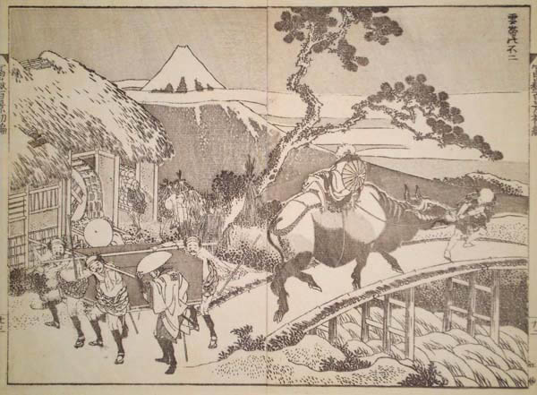 Katsushika HOKUSAI (Giappone, 1760 – 1849) – IL FUJI CON LA CINTA
