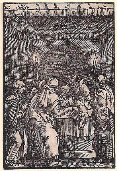 Albrecht ALTDORFER (Baviera, c.a 1480 – 1538) – IL RIFIUTO DELLE OFFERTE DI GIOACCHINO