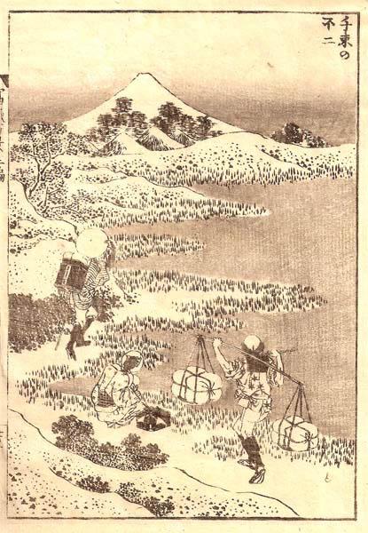 Katsushika HOKUSAI (Giappone, 1760 – 1849) – IL FUJI DA SENZOKU