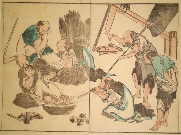 Katsushika HOKUSAI (Giappone, 1760 – 1849) – SCENA ANIMATA