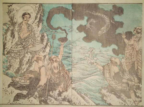 Katsushika HOKUSAI (Giappone, 1760 – 1849) – IL DEMONE DEL FUMO