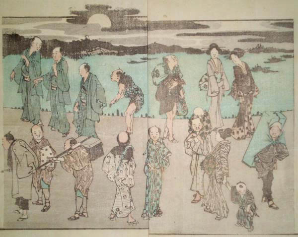 Katsushika HOKUSAI (Giappone, 1760 – 1849) – NOTTE DI LUNA