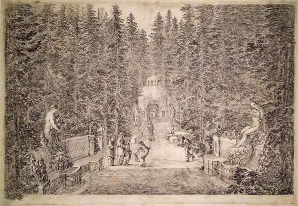 Stefano DELLA BELLA (Firenze, 1610 – 1664) – GETTI D'ACQUA