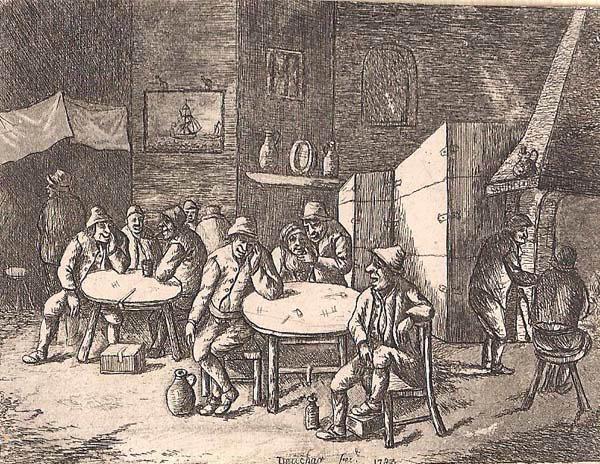 David DEUCHAR (Scozia, attivo 1771-1803) – INTERNO (1783)