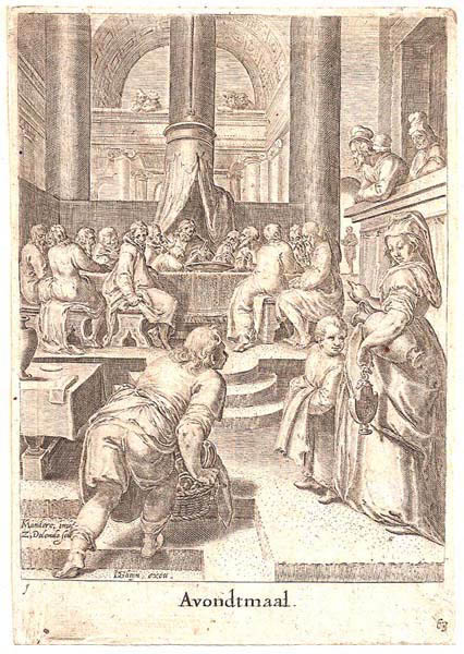 Zacharias DOLENDO (Olanda, 1561 – c.a 1604) – AVONDTMAAL