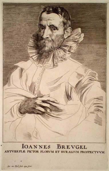 Anton Van DYCK (Fiandre, 1599 – 1641) – RITRATTO DI JAN BRUEGEL (1640 circa)