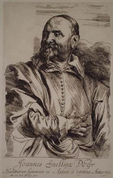 Anton Van DYCK (Fiandre, 1599 – 1641) – RITRATTO DI JOHANNES SNELLIX