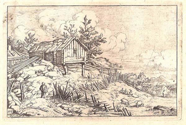Allart Van EVERDINGEN (Olanda, 1621 – 1675) – UOMO VICINO ALLO STECCATO CADUTO