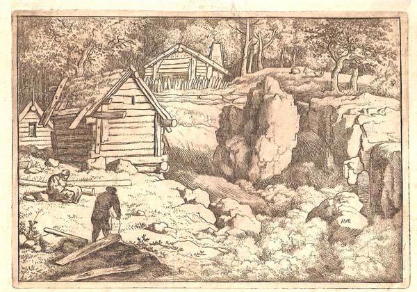 Allart Van EVERDINGEN (Olanda, 1621 – 1675) – IL CARPENTIERE DEL VILLAGGIO