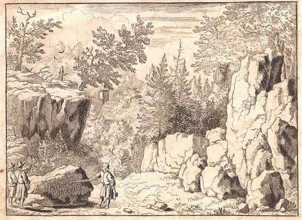 Allart Van EVERDINGEN (Olanda, 1621 – 1675) – L'ISCRIZIONE SULLA ROCCIA