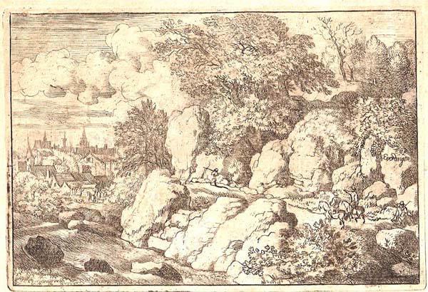 Allart Van EVERDINGEN (Olanda, 1621 – 1675) – DUE UOMINI A CAVALLO