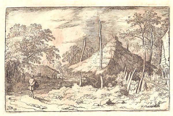 Allart Van EVERDINGEN (Olanda, 1621 – 1675) – LA RUOTA SOTTO IL TETTO MOBILE