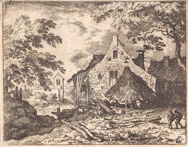 Allart Van EVERDINGEN (Olanda, 1621 – 1675) – LA CAPANNA SOTTO IL TETTO MOBILE