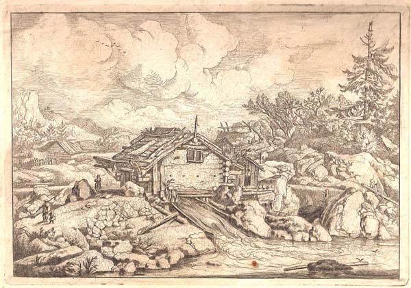 Allart Van EVERDINGEN (Olanda, 1621 – 1675) – MULINO AD ACQUA